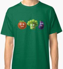 Tomato Broccoli and Eggplant Funny Cartoon Vegetables Classic T-Shirt
