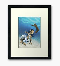 Under dah See Framed Print