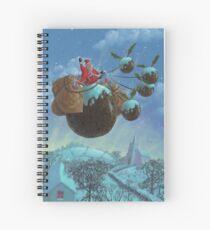 christmas pudding santa ride Spiral Notebook