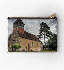 the Church at Martyr Worthy, Hampshire Zipper Pouch