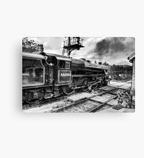 No.45212 Leaving Levisham Station Canvas Print