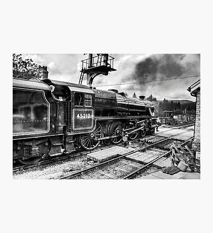 No.45212 Leaving Levisham Station Photographic Print
