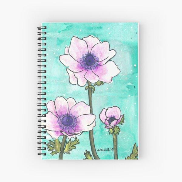 Purple Anemones Spiral Notebook