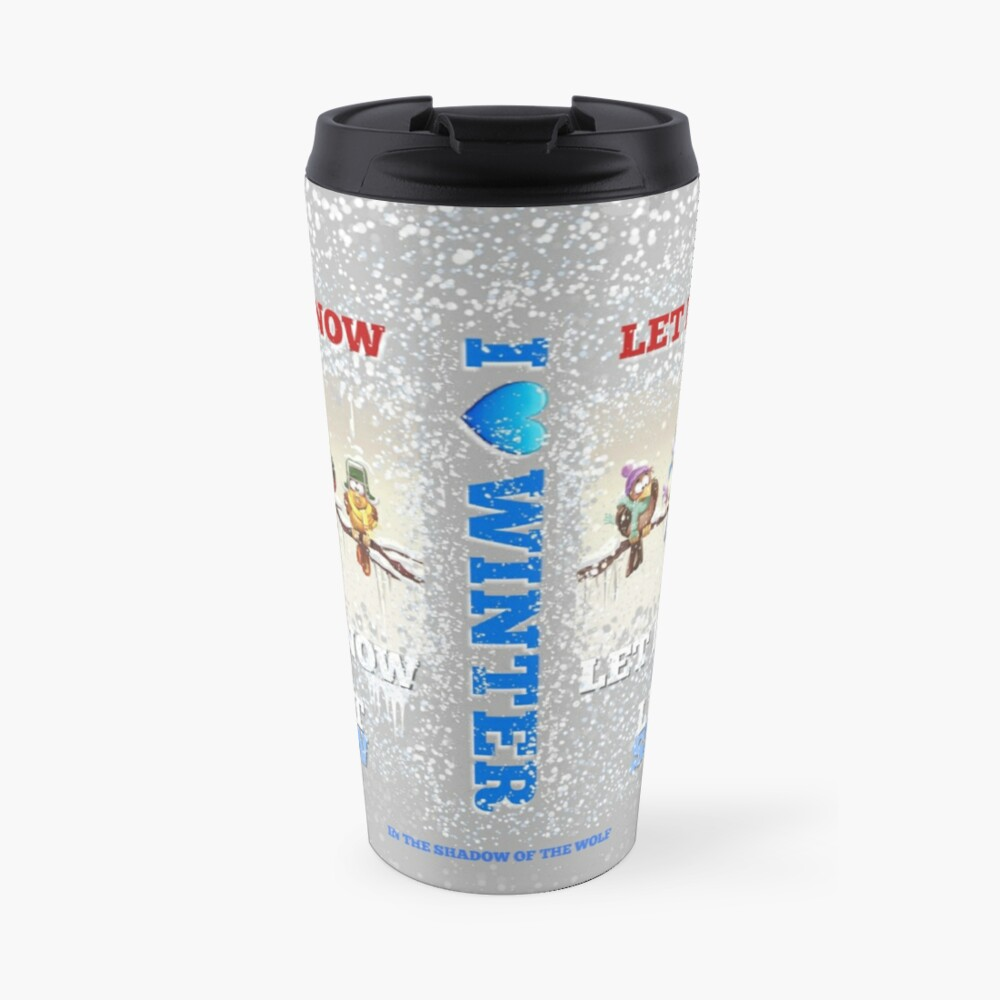 I Love Winter Travel Mug