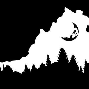Virginia Forest Moon Silhouette by ViktorCraft