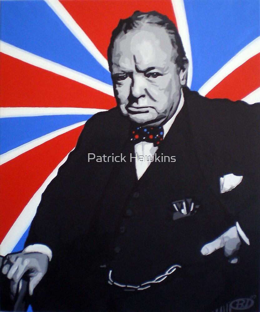 Winston Churchill and Trippy Union Jack by Patrick Hawkins