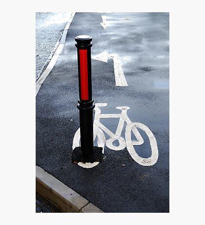 Oops Bike Lane!! Photographic Print