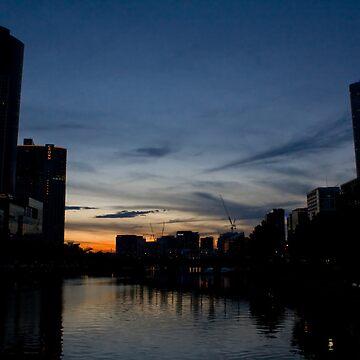 Melbourne Silhouette by richardchen