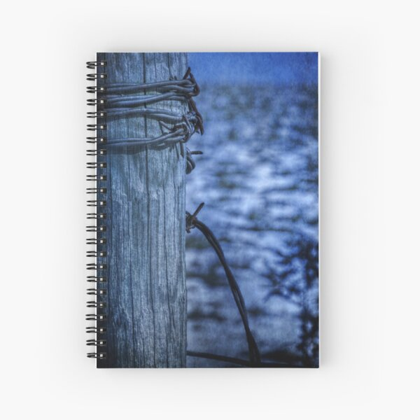 Barbed Wire in Blue Spiral Notebook
