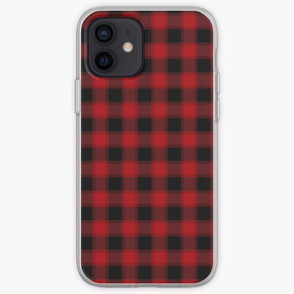 Red and Black Plaid Pattern iPhone Soft Case