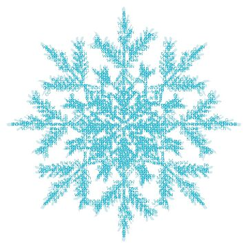 alphabet snowflake by alphabetsoup