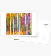 Colorful Forest Abstract | Triptych Part 3 Postcards