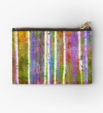 Colorful Forest Abstract | Triptych Part 3 Studio Pouch