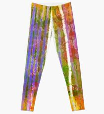 Colorful Forest Abstract | Triptych Part 3 Leggings