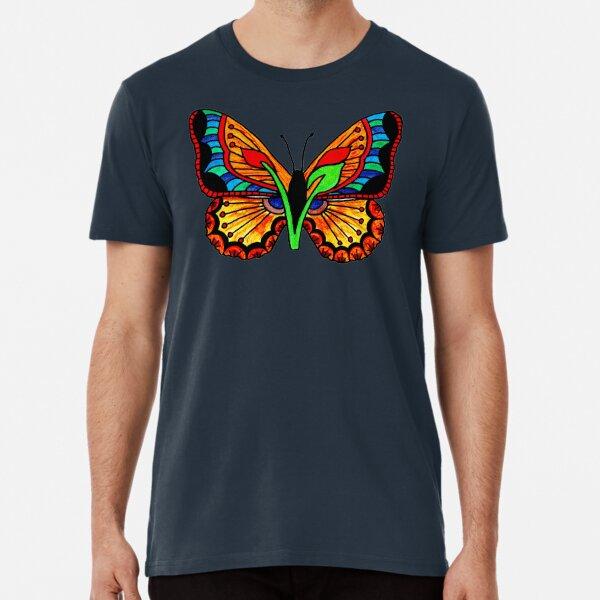 V FOR VEGAN BUTTERFLY Premium T-Shirt