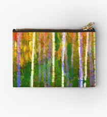 Colorful Forest Abstract | Triptych Part 2 Studio Pouch