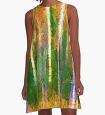Colorful Forest Abstract   Triptych Part 2 A-Line Dress