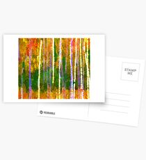 Colorful Forest Abstract | Triptych Part 2 Postcards