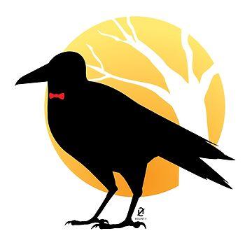 Raven in the Pale Moonlight by zangetsuBankai