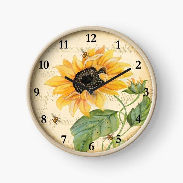 Sunflower Melody Clock Clock