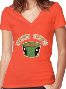 CROUTON...CROUTON!!! Women's Fitted V-Neck T-Shirt