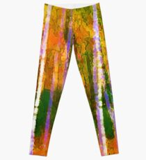 Colorful Forest Abstract | Triptych Part 1 Leggings
