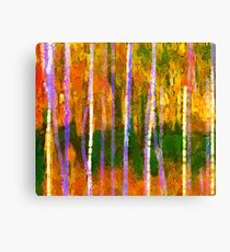 Colorful Forest Abstract | Triptych Part 1 Canvas Print
