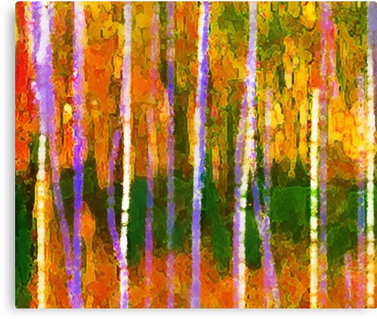 Colorful Forest Abstract | Triptych Part 1 by Menega  Sabidussi