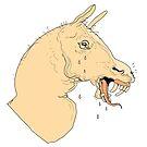 Yellow Fanged Horse by jomajaba