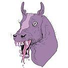 Purple Fanged Horse  by jomajaba