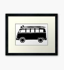 Sp;lit screen surf bus Framed Print