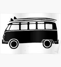 Sp;lit screen surf bus Poster