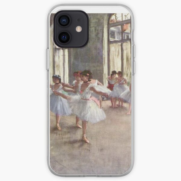 Edgar Degas French Impressionism Oil Painting Ballerinas Rehearsing Dancing iPhone Soft Case