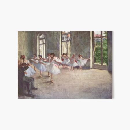 Edgar Degas French Impressionism Oil Painting Ballerinas Rehearsing Dancing Art Board Print