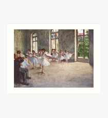 Edgar Degas French Impressionism Oil Painting Ballerinas Rehearsing Art Print