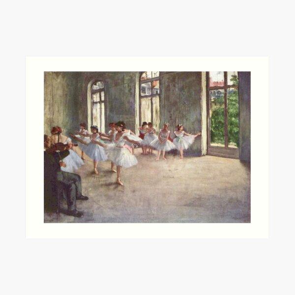Edgar Degas French Impressionism Oil Painting Ballerinas Rehearsing Dancing Art Print