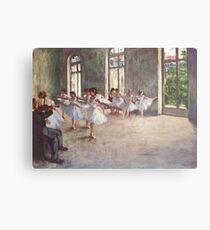 Edgar Degas French Impressionism Oil Painting Ballerinas Rehearsing Dancing Metal Print