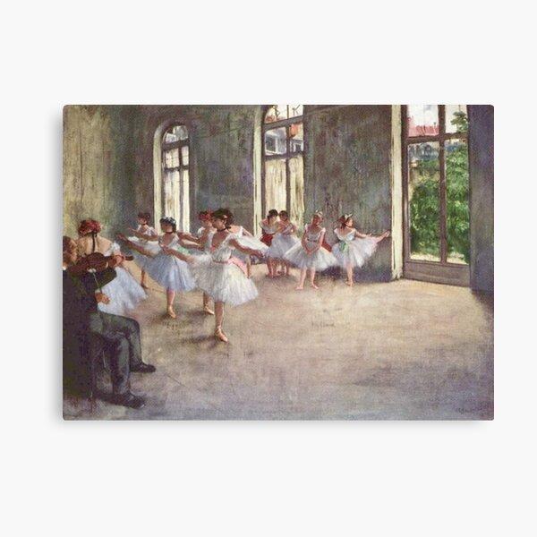 Edgar Degas French Impressionism Oil Painting Ballerinas Rehearsing Dancing Canvas Print
