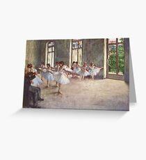 Tarjeta de felicitación Edgar Degas Impresionismo Francés Pintura Al óleo Bailarinas Ensayando Bailar