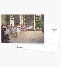 Edgar Degas Französischer Impressionismus-Ölgemälde-Ballerinen, die Tanzen probieren Postkarten
