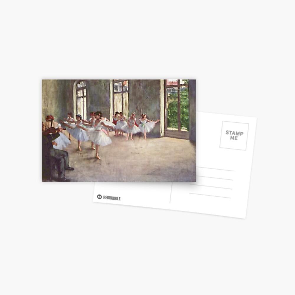 Edgar Degas Francés Impresionismo Pintura Al óleo Bailarinas Ensayando Bailando Postal