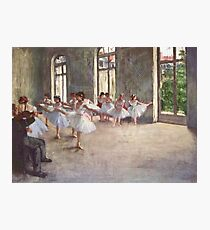 Edgar Degas French Impressionism Oil Painting Ballerinas Rehearsing Dancing Photographic Print