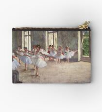 Edgar Degas French Impressionism Oil Painting Ballerinas Rehearsing Dancing Studio Pouch