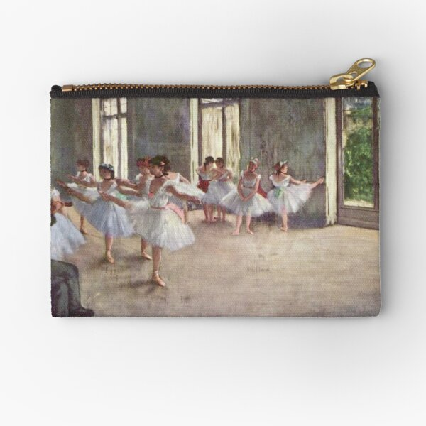 Edgar Degas French Impressionism Oil Painting Ballerinas Rehearsing Dancing Zipper Pouch