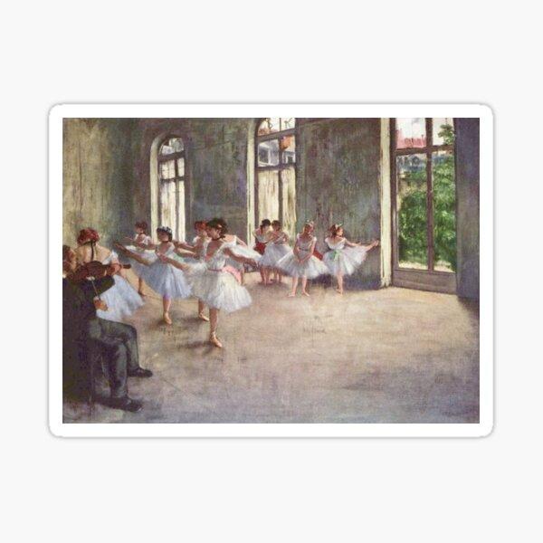 Edgar Degas French Impressionism Oil Painting Ballerinas Rehearsing Dancing Sticker