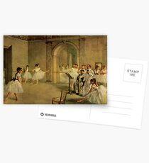 Postales Edgar Degas Impresionismo Francés Pintura Al óleo Bailarinas Ensayando Bailar En La Escuela De Danza