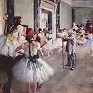 Edgar Degas French Impressionism Oil Painting Ballerinas Rehearsing by jnniepce