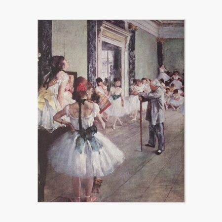Edgar Degas French Impressionism Oil Painting Ballerinas Rehearsing Art Board Print