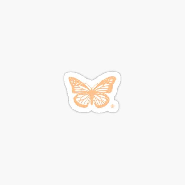 halsey hfk pale pastel orange butterfly Sticker