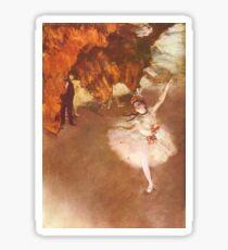 Edgar Degas Französischer Impressionismus-Ölgemälde-Ballerinen, die Tanzen probieren Sticker